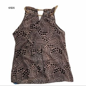CHARLOTTE RUSSE animal print top St. 60175CA567CH